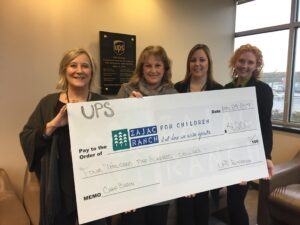 UPS Foundation Cheque Presentation