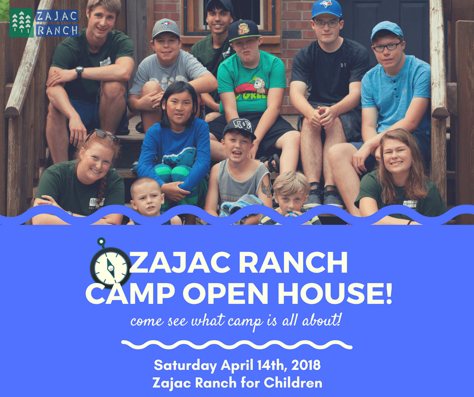 Zajac Ranch Camp Open House - Comse see what camp is all about - Saturday April 14, 2018 - Zajac Ranch for Children