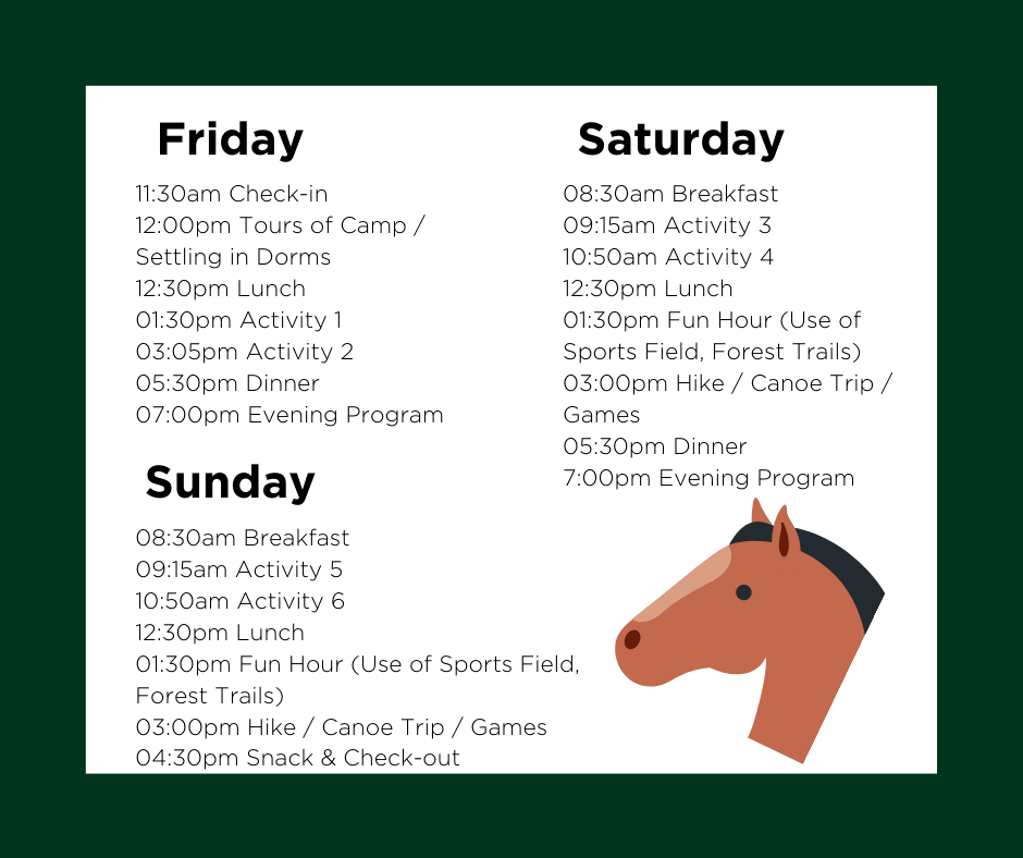 Family Retreat Weekend Schedule